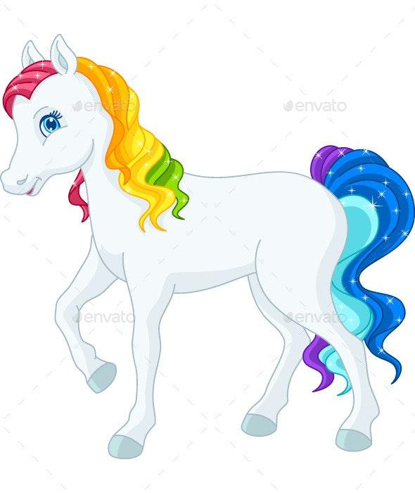Rainbow Horse - Animals Characters