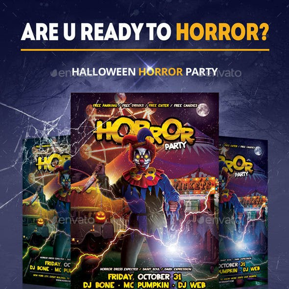 Horror Party Flyer