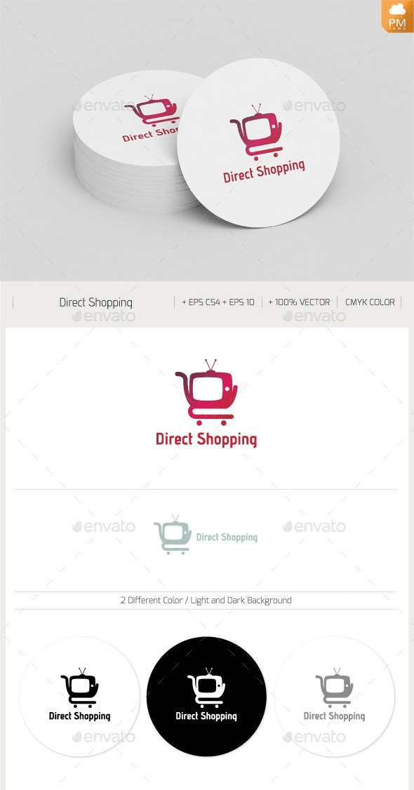 Direct Shopping - Objects Logo Templates
