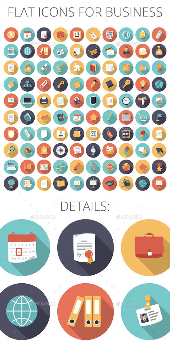 Flat Design Icons for Business and Finance - Business Icons