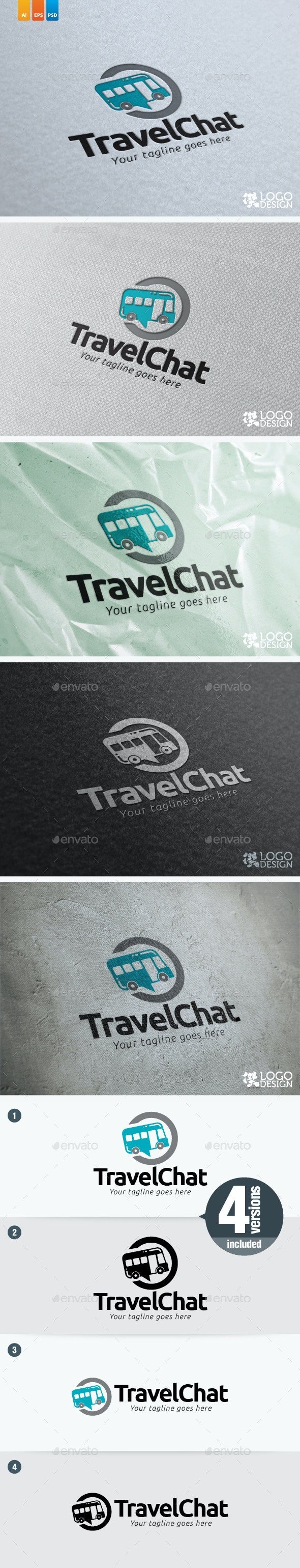 Travel Chat - Objects Logo Templates