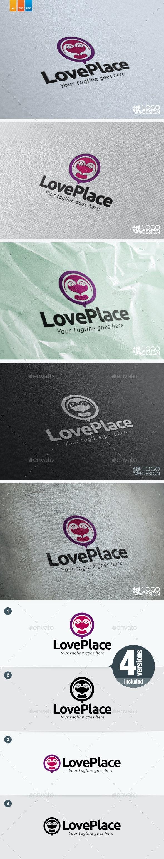 Love Place - Humans Logo Templates