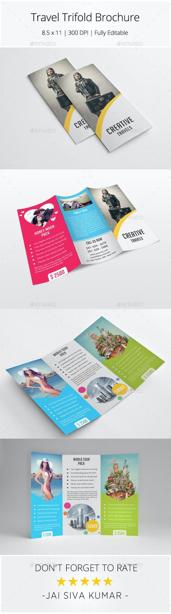 Travel Trifold Brochure - Catalogs Brochures