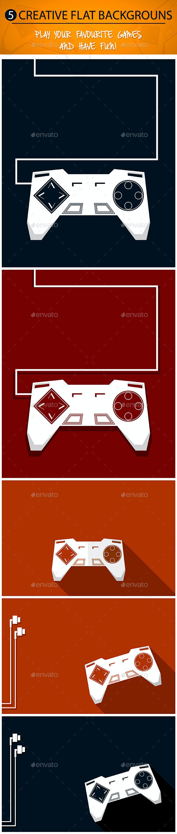 Gamepad Backgrounds Set - Backgrounds Decorative