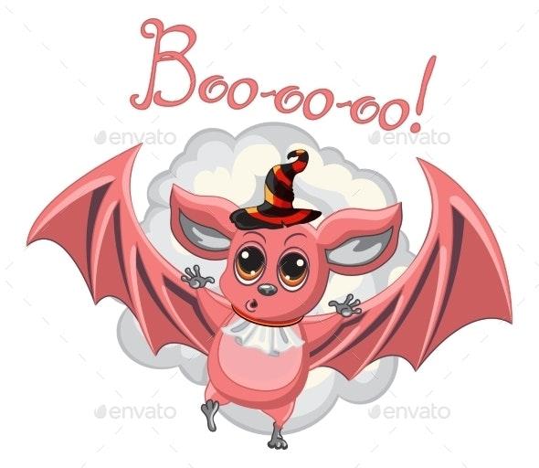 Bat Halloween Hat on a White Background - Halloween Seasons/Holidays