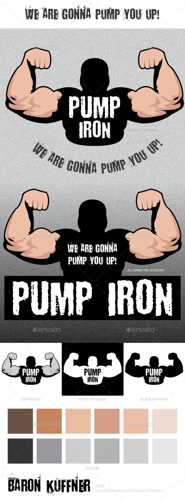 Pump Iron Logo Template - Humans Logo Templates