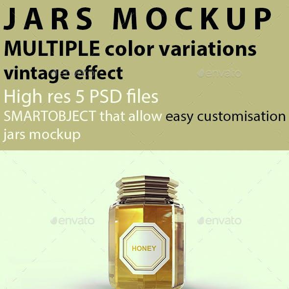 Jars Mockup Honey Mockup