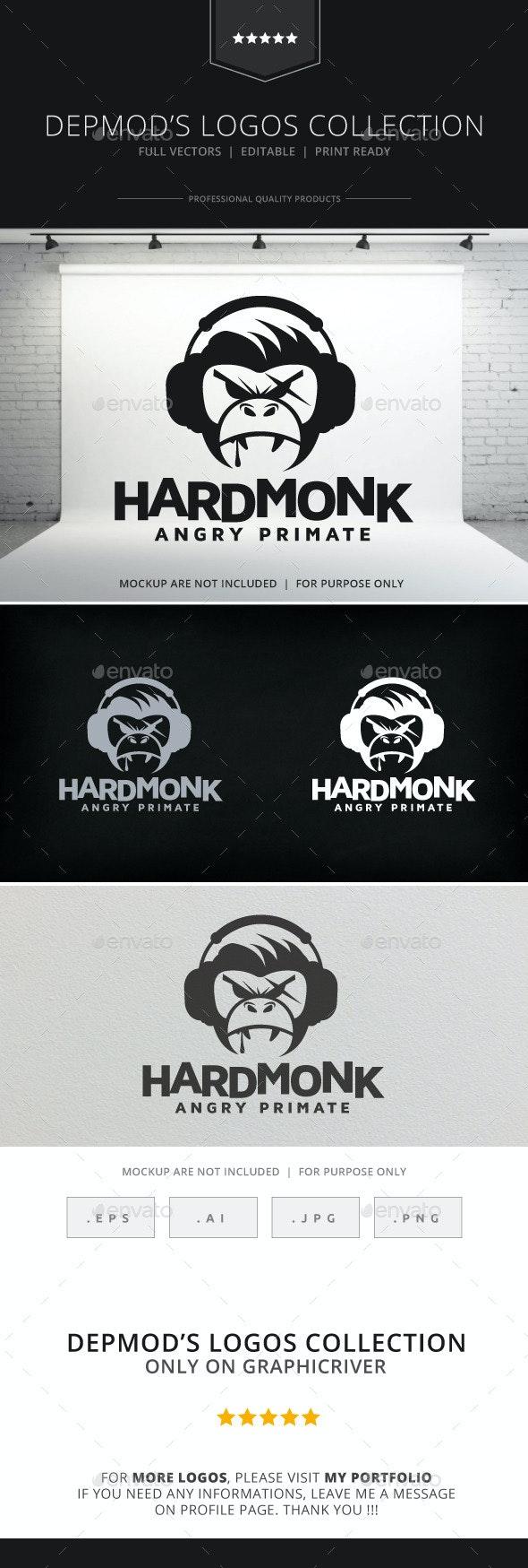 Hard Monk Logo - Animals Logo Templates