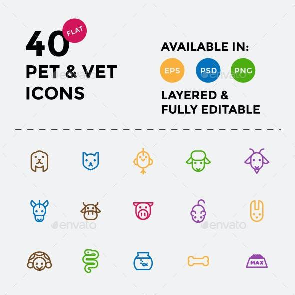 Pet & Vet Icons