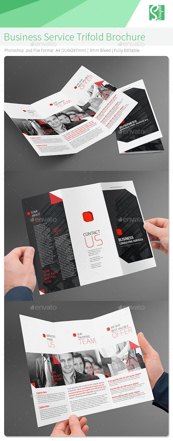 Business Service Trifold Brochure - Corporate Brochures
