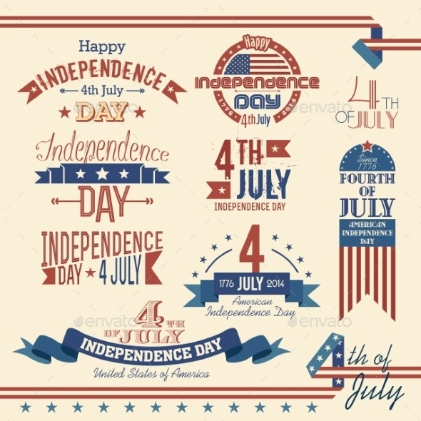 American Independence Day Label Set - Miscellaneous Seasons/Holidays