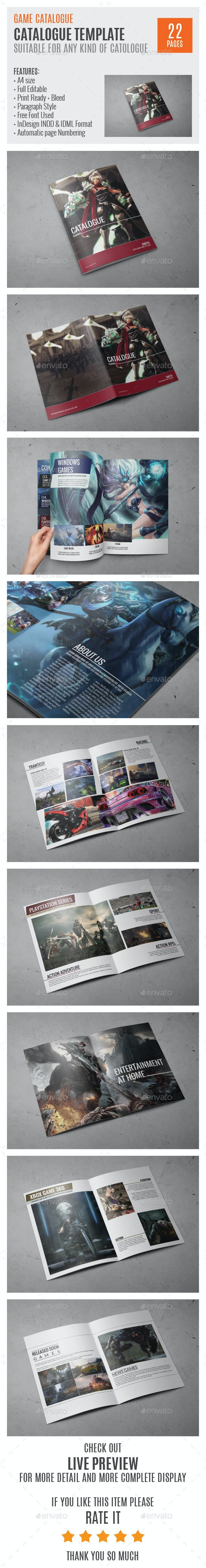Game Studio A4 InDesign Catalog Template 0005 - Catalogs Brochures