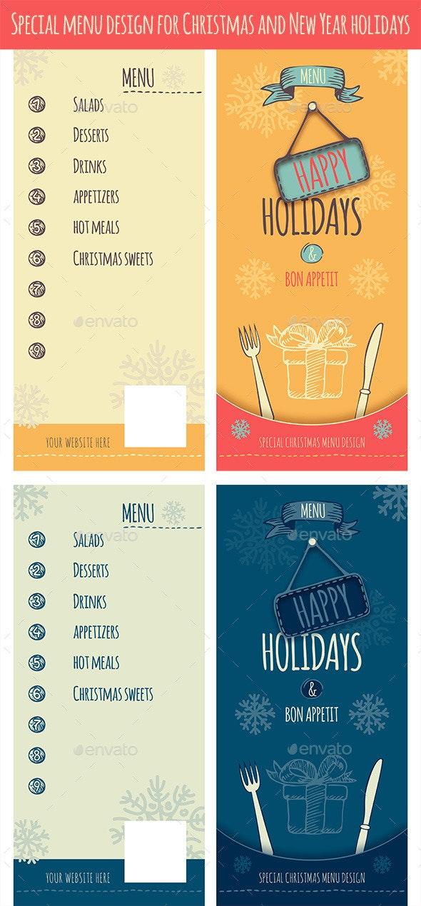 Happy Holidays Christmas Menu - Christmas Seasons/Holidays