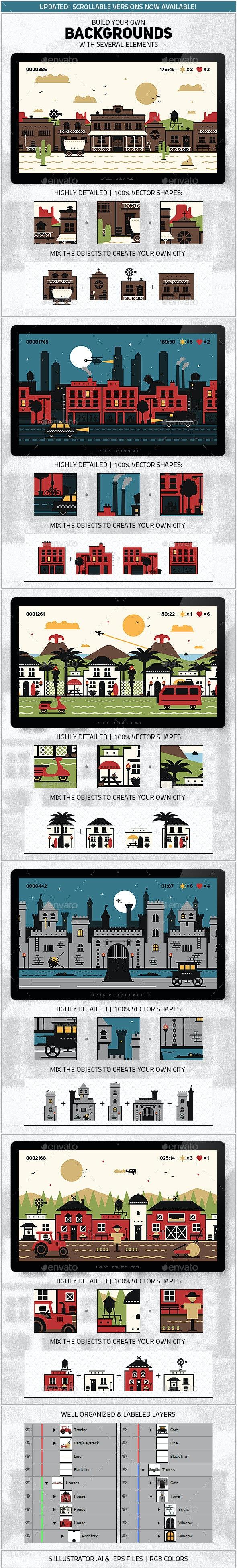 Background Builder Kit - Backgrounds Game Assets