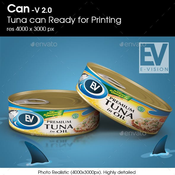 Canned Tuna V 2.0 - Mockup for Printing