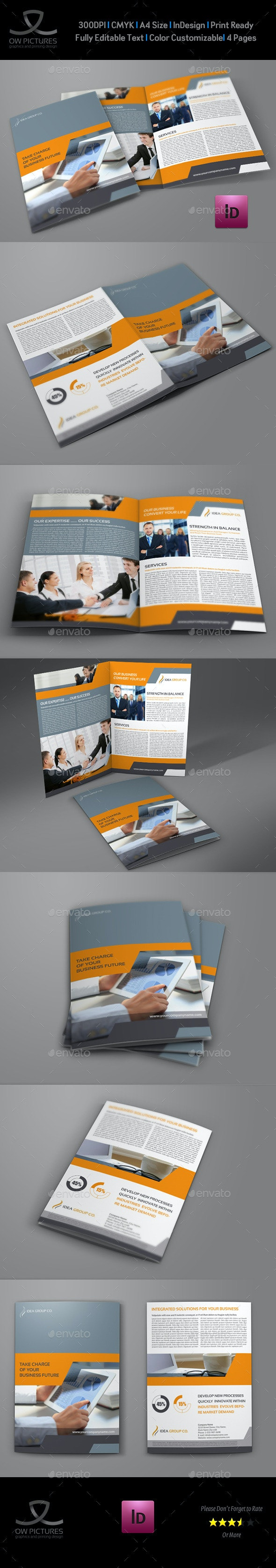Company Brochure Bi-Fold Template Vol.34 - Corporate Brochures