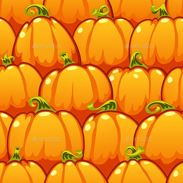 Pumpkins Seamless Pattern - Patterns Decorative