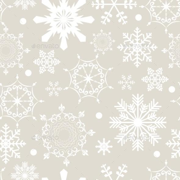 Abstract Christmas and New Year Seamless Pattern - Christmas Seasons/Holidays
