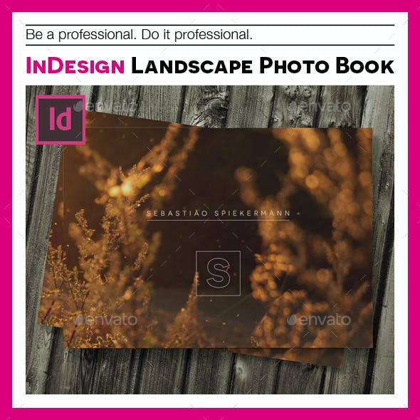 Indesign landscape photo book template