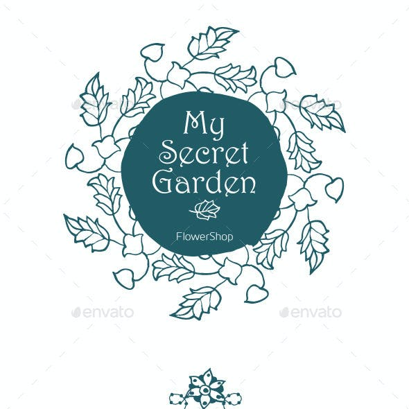 12 Hand Drawn Floral Labels