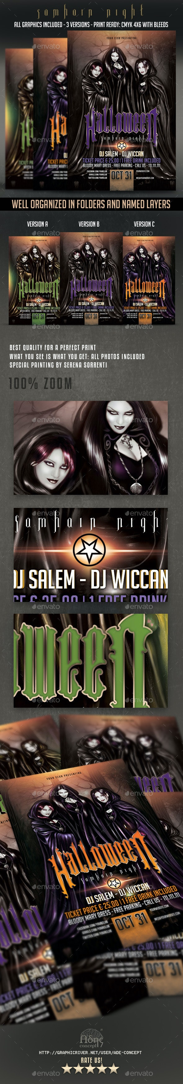 Samhain Night Flyer - Clubs & Parties Events