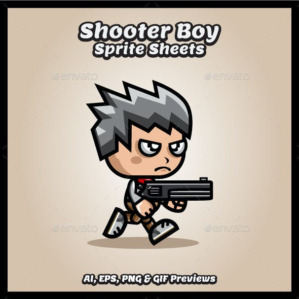 Shooter Boy Game Character Sprite Sheets