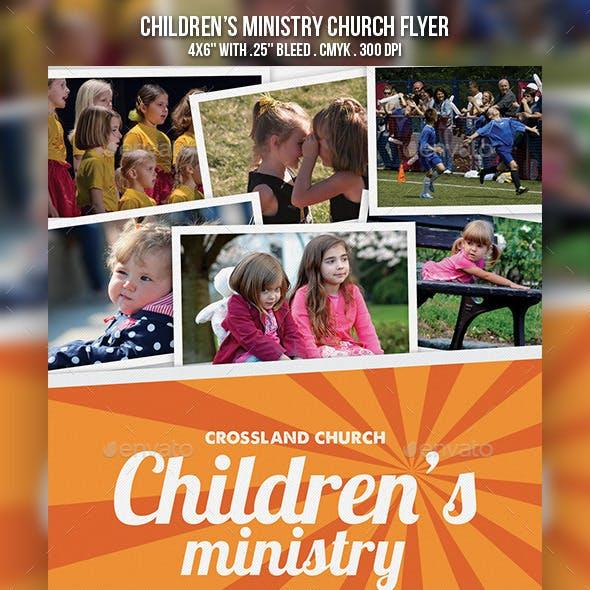 Children's Ministry Church Flyer