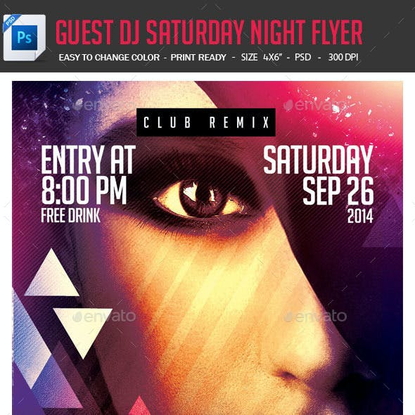 Guest DJ Saturday Night Flyer