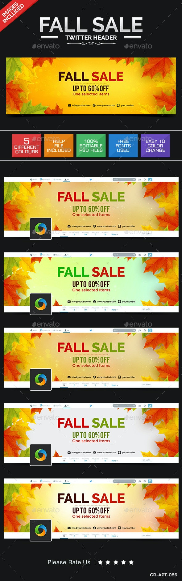 Fall Sale Twitter Header - Twitter Social Media