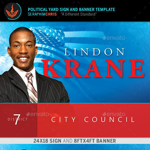 Political Yard Sign and Banner Template 5