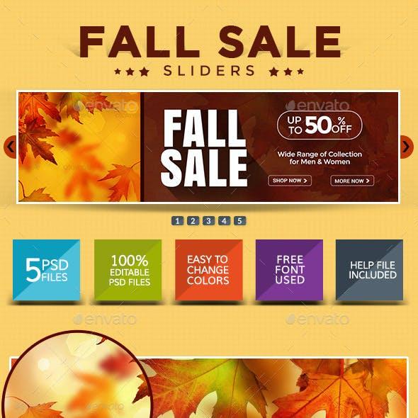 Fall Sale Sliders