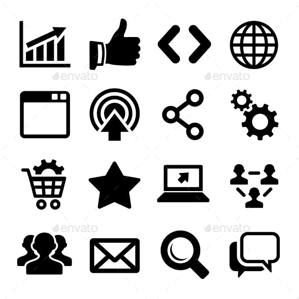 Seo Icons Set - Web Icons