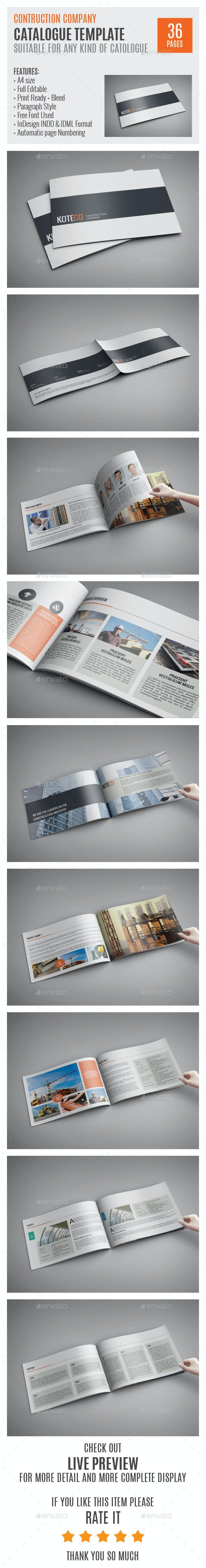 Construction Company A4 Profile Template 0006 - Corporate Brochures