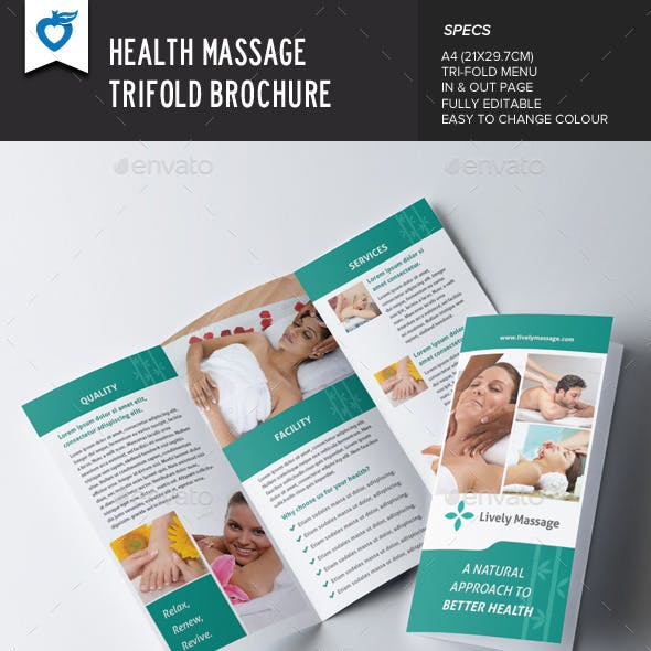 Health Massage Trifold Brochure