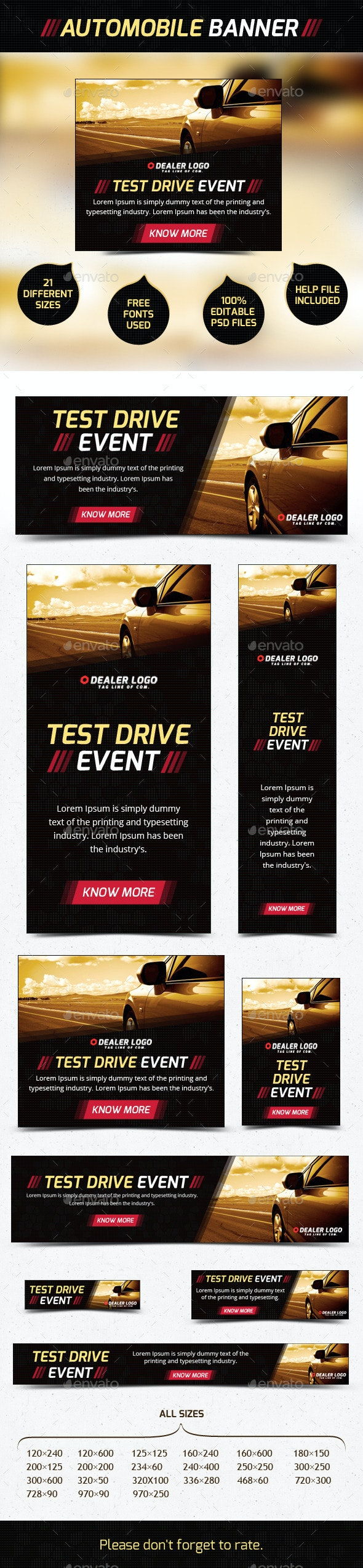 Car Banner Ad - Banners & Ads Web Elements