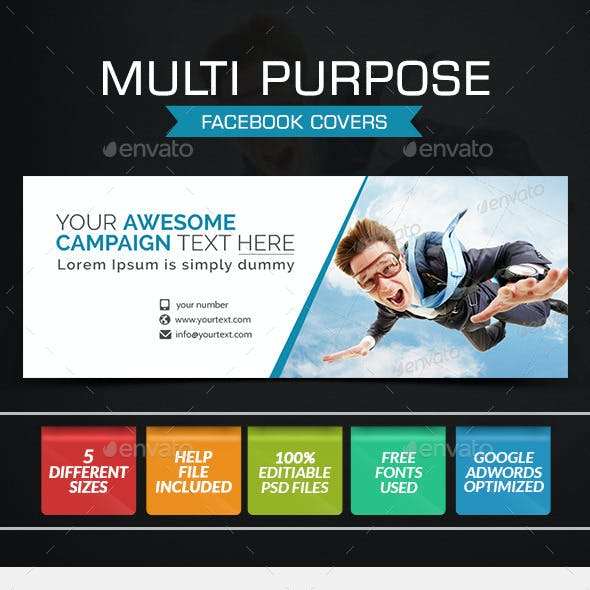 Multi Purpose Facebook Covers