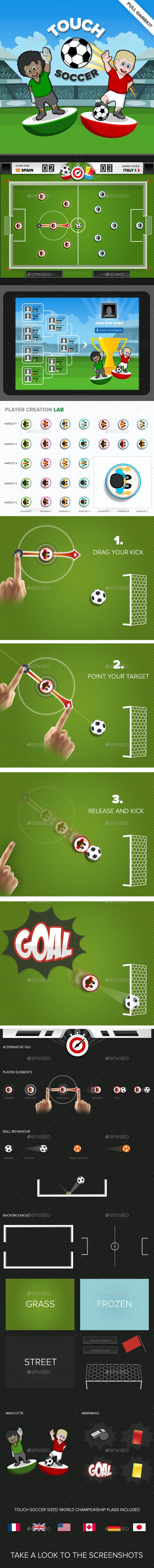 Touch Soccer Game Kit - Game Kits Game Assets