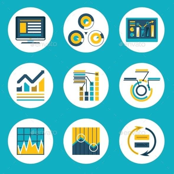 Data Retro Flat Design Style Business Infographics