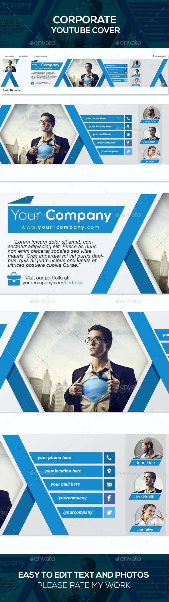 Corporate Youtube Banner Template - YouTube Social Media