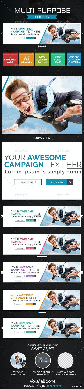 Multi Purpose Slider - Sliders & Features Web Elements