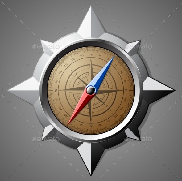 Steel Compass with Scale - Objects Vectors