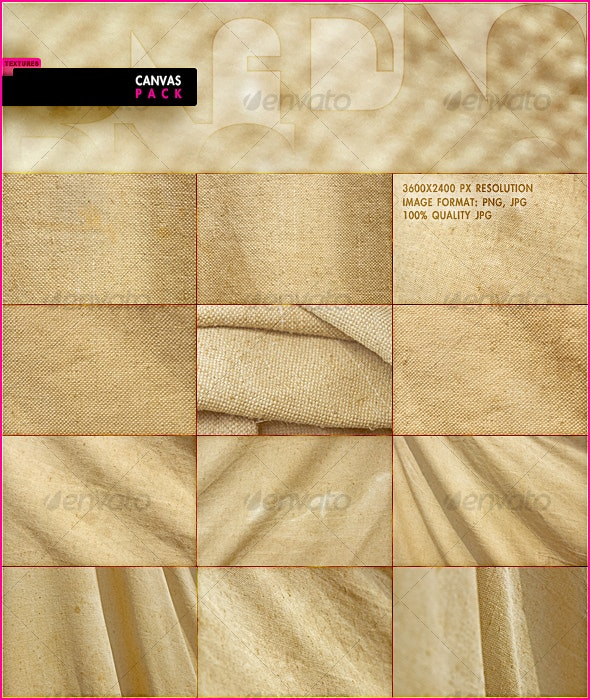 Canvas Pack - Fabric Textures