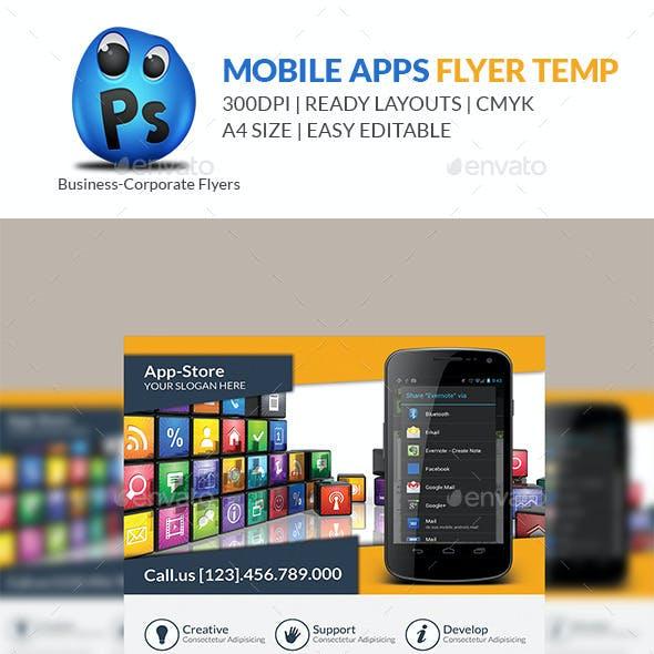Mobile App Flyer Print Template