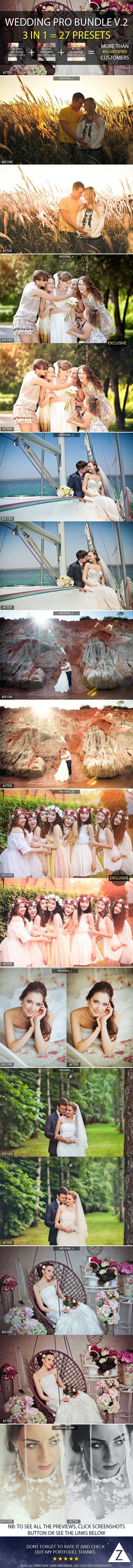 3-in-1 Pro Wedding Bundle vol.2 - Wedding Lightroom Presets