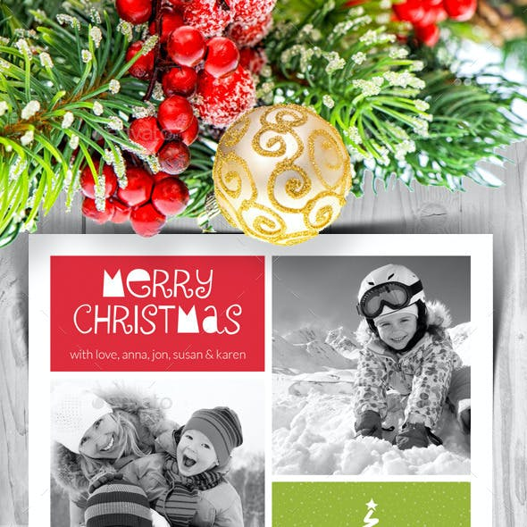 Modern Christmas Card V4