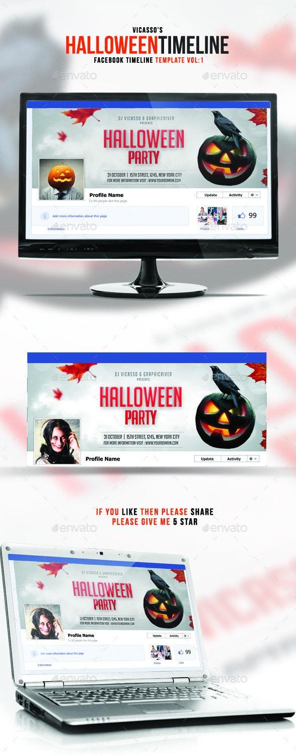 Facebook Halloween Vol. 1 - Facebook Timeline Covers Social Media