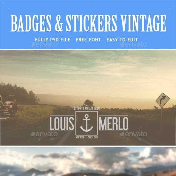 Retro Vintage Labels and Logos