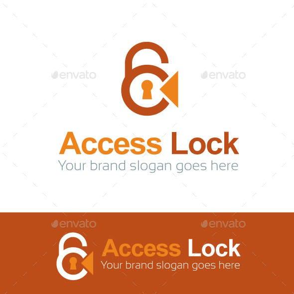 Access Lock Logo Template
