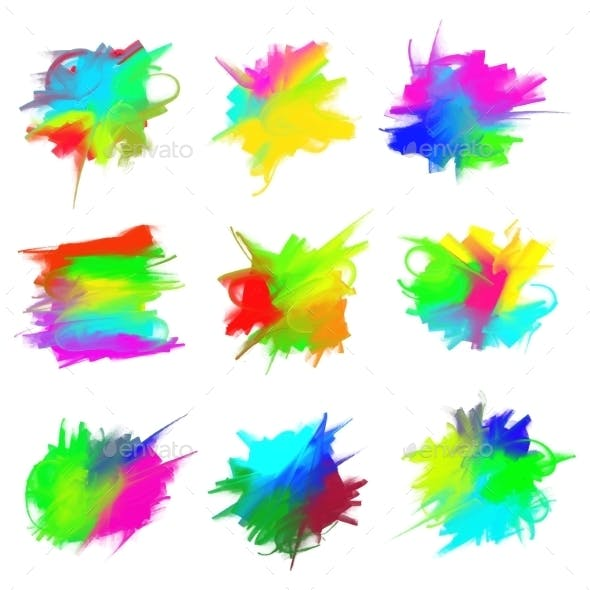 Blots of Paint