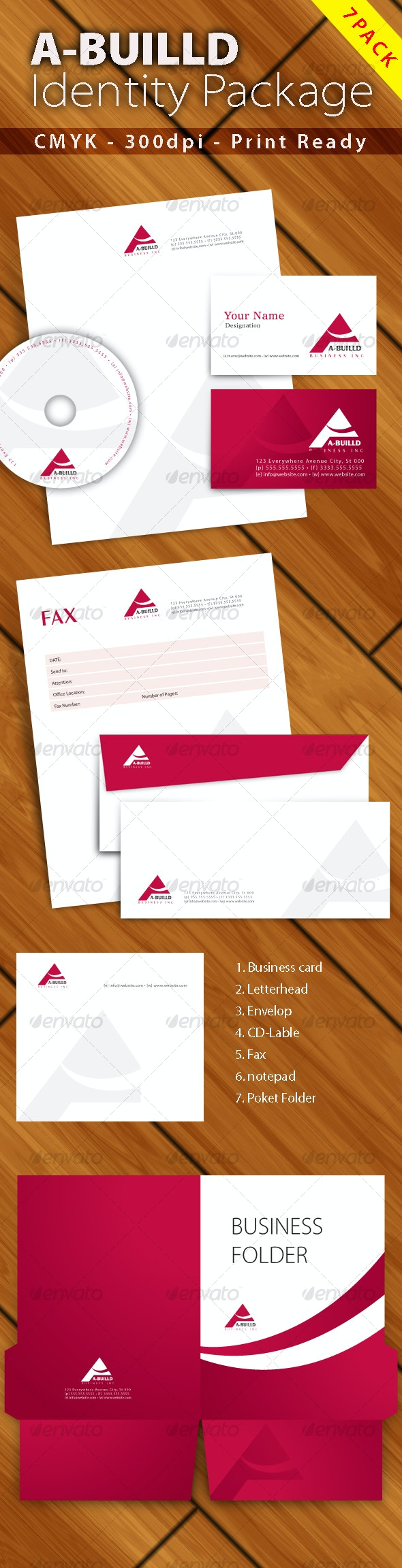 Corporate identity 7set [ Print Ready ] - Stationery Print Templates
